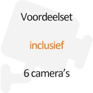 Inclusief 6 camera's