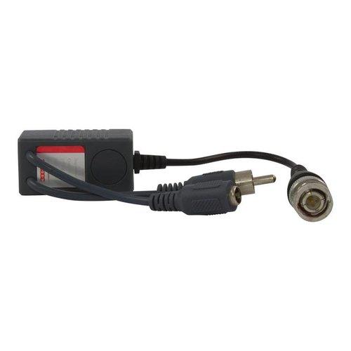 CW-BAL-T - Video balun met audio (RCA/Tulp) aansluiting
