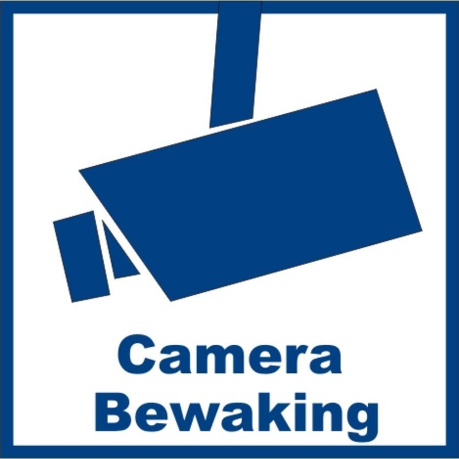"Sticker ""camerabewaking"" 10.6 x 10.6 cm binnenkant raam/deur"