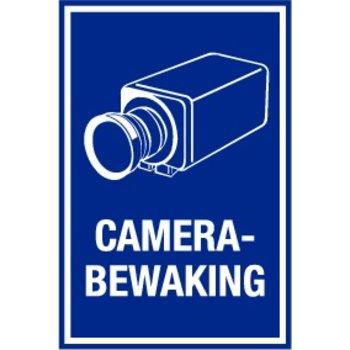 """Sticker """"camerabewaking"""" 20 x 30 cm - Blauw/wit"""