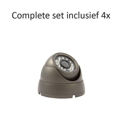 CC-CS04DC1 - 4 kanaals CVR inclusief 4 CC-DC1 camera's