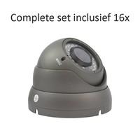 CC-CS16DC2 - 16 kanaals CVR inclusief 16 CC-DC2 camera's