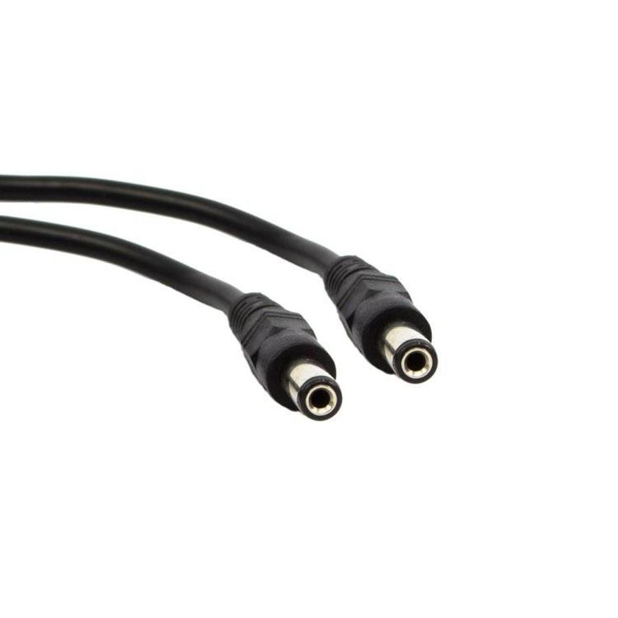 CW-KVM - 0.5 meter stroomkabel met 2 maal 5.5x2.1 mm male connector