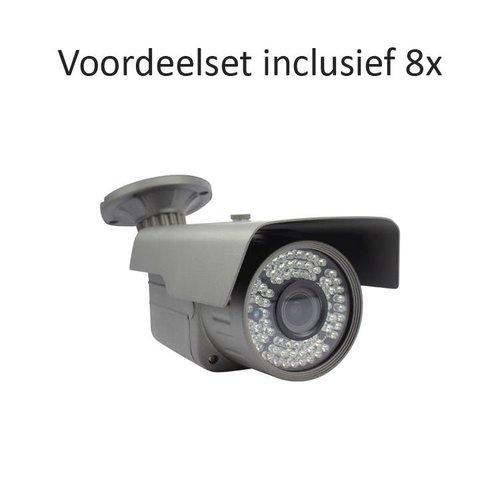 CHD-CS08B4 - 8 kanaals NVR inclusief 8 CHD-B4 IP camera's