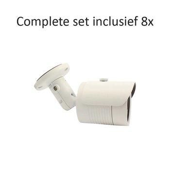CF-CS08BC1 - 8 kanaals CVR inclusief 8 CF-BC1 camera's