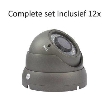 CF-CS12DC2 - 16 kanaals CVR inclusief 12 CF-DC2 camera's