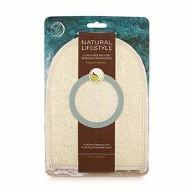 NATURAL LIFESTYLE Luffa Peeling und Massage Handschuh (Luffa/Frottee)