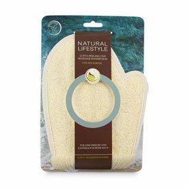 NATURAL LIFESTYLE Luffa Peeling und Massage Handschuh (Luffa/Soja)