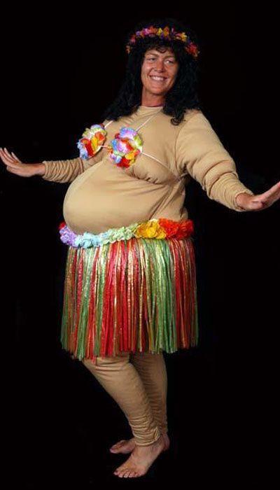 Hawaiiaanse dikke dame