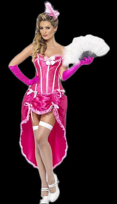 Roze burlesque jurk