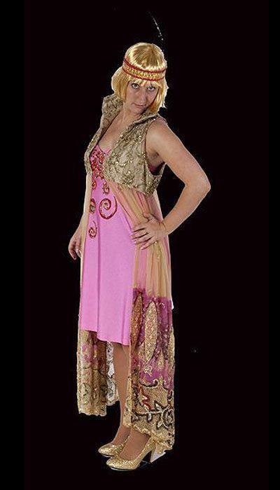 Charleston jurk 'Pink'