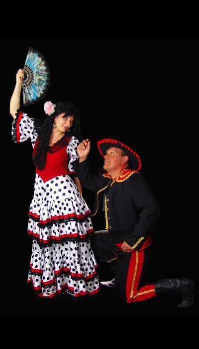 Spaanse kostuums voor dansers