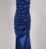 Galajurk blauw satijn