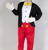 Pluto en Mickey Mouse kostuum