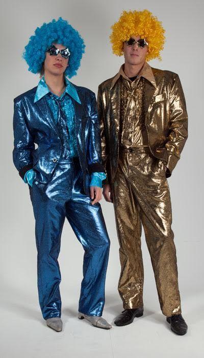 Blauw en goud Glitterpak