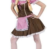 Dirndl jurk roze/bruin
