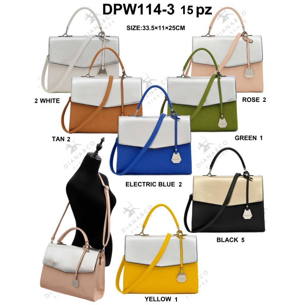 Diana&Co DPW114-3 Mixed Colors 15 pieces
