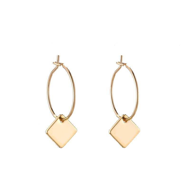CHIC SQUARE EARRINGS - GOLD
