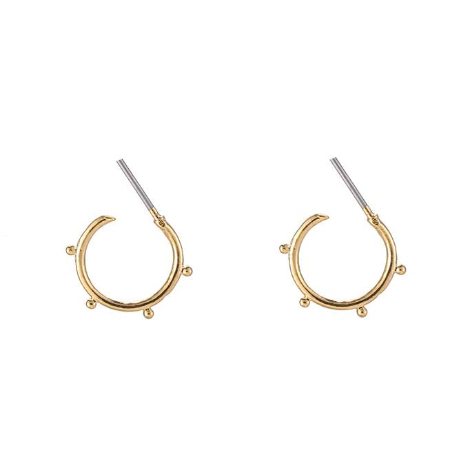 PRECIOUS DOTTED HOOPS - GOLD