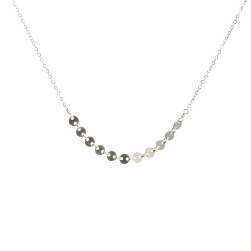 DISC NECKLACE - SILVER