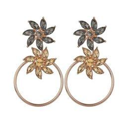 SPARKLE FLOWER EARRINGS