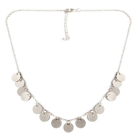 BOHO COINS NECKLACE - SILVER