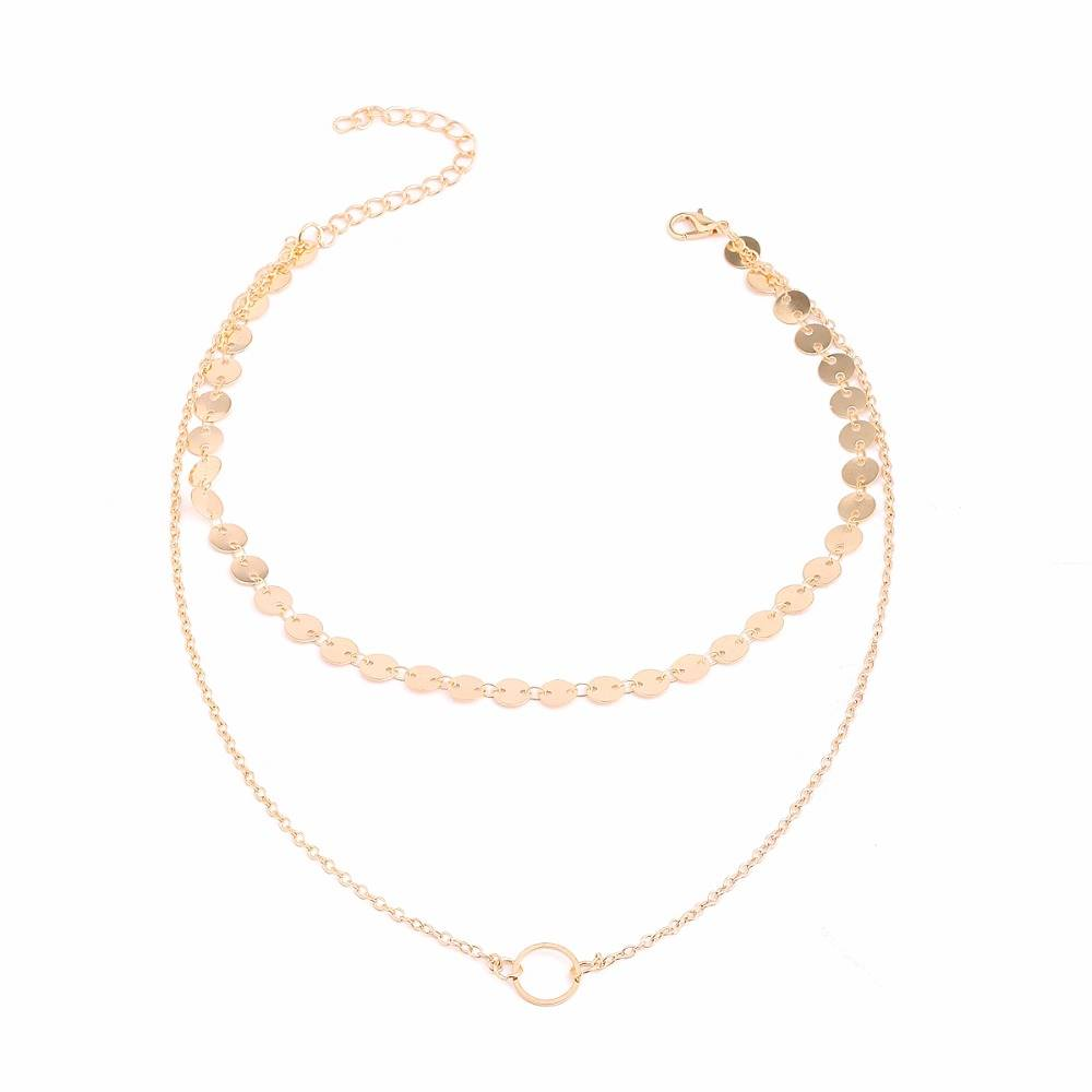 PRECIOUS LAYERED NECKLACE - GOLD