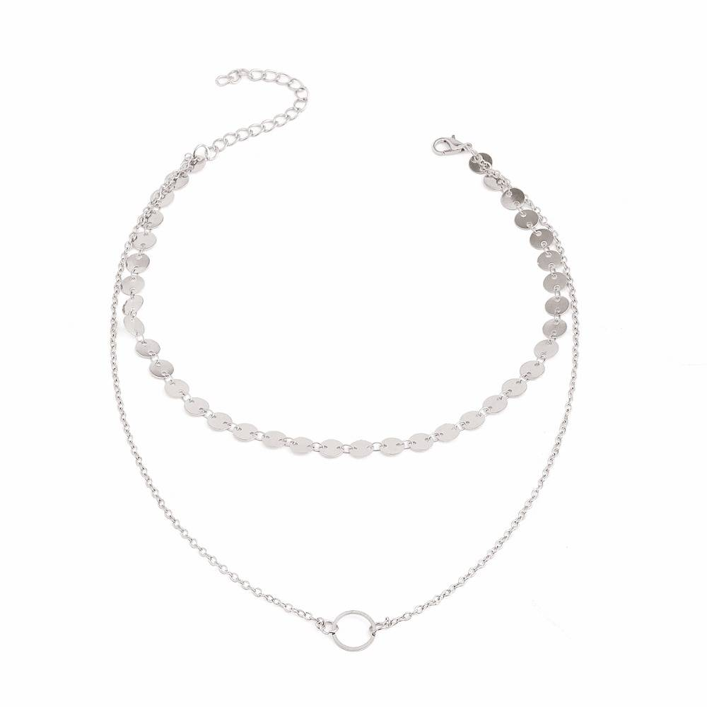 PRECIOUS LAYERED NECKLACE - SILVER