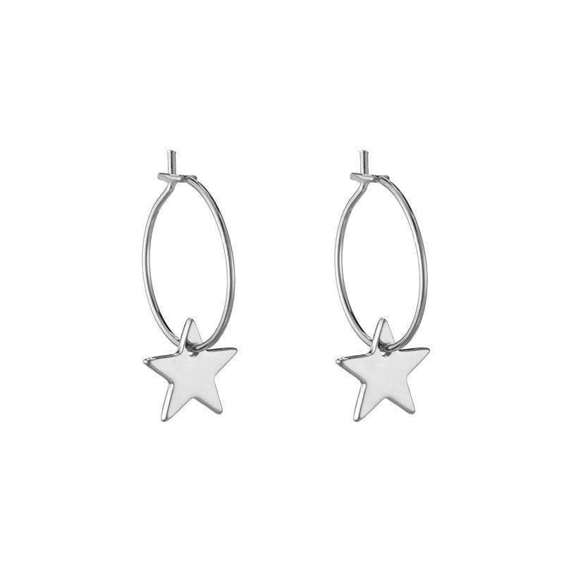 CHIC STAR EARRINGS - SILVER