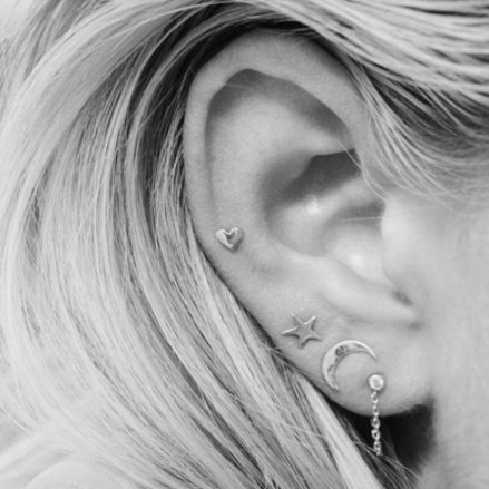 3 SET EARSTUDS - GOLD
