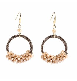 CHIC EARRINGS - TAUPE
