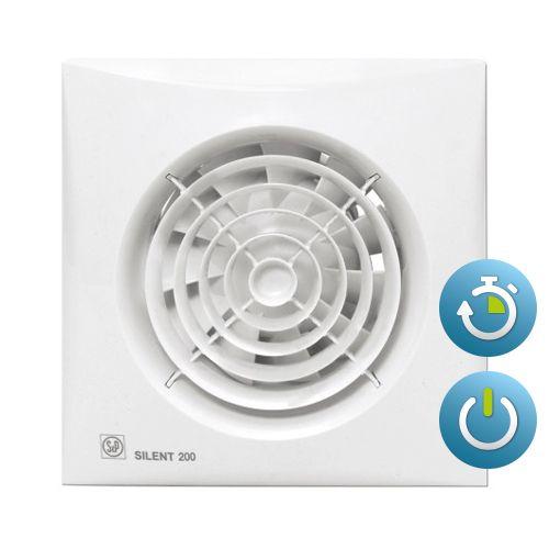 Bestel Soler + Palau Silent 200CRZ TIMER Badkamer/ toilet ventilator ...
