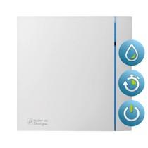 Silent Design 100 CHZ TIMER + VOCHTSENSOR Badkamer/ toilet ventilator - dia 100mm