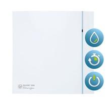 Silent Design 200 CHZ TIMER + VOCHTSENSOR Badkamer/ toilet ventilator - dia 120mm