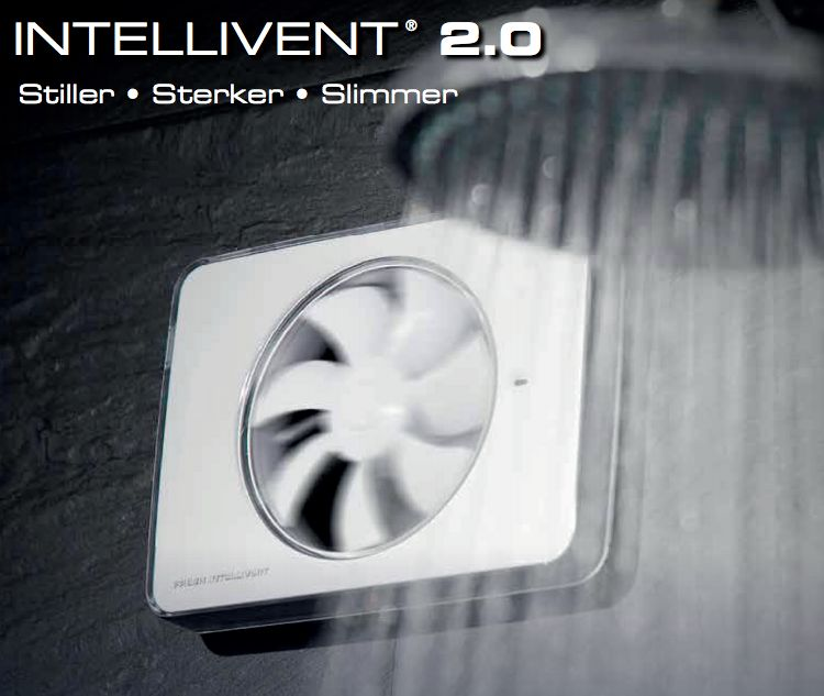 Bestel Intellivent 2.0 badkamerventilator wit 134 m3/h met Korting ...