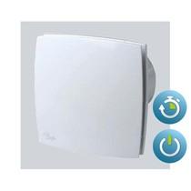 Design badkamer- toiletventilator 90 m3/h aan/uit + TIMER - dia 100mm