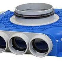 Uniflexplus ventilatie subverdeelbox 12x diameter 63 mm met tuit diameter 180 mm