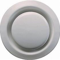 Ventilatie ventiel kunststof rond 200mm wit met klemveren