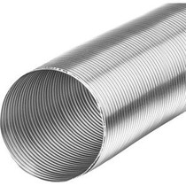 Starre aluminium ventilatieslang rond 150mm lengte (3 meter)
