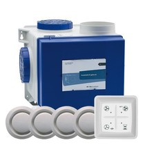 CVE (perilex) Alles in 1 pakket SP 325m3/h + rft bediening + 4 ventielen