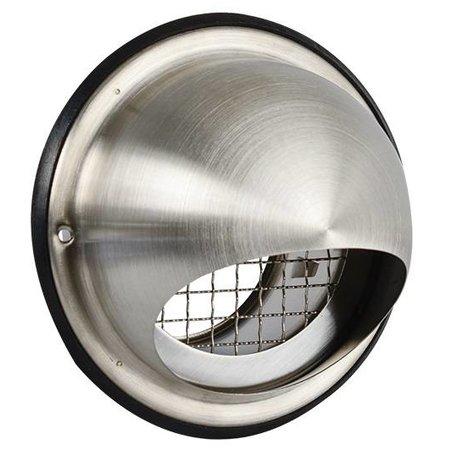 Nedco Bolrooster RVS304 dia 125 mm - met grofmazig gaas