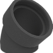 Geisoleerd ventil.bocht EPP 180+mof 45gr