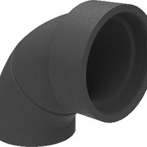 Geisoleerd ventil.bocht EPP 180+mof 90gr