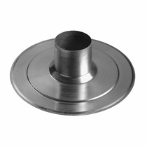 Aluminium Plakplaat Vlak Dak tbv Multivent 131 dia 131mm