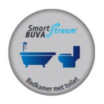 Smartstream Badkamer/toiletklep met vocht & luchtkwaliteit sensor 50 m3/h