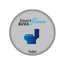 Smartstream Toiletklep incl luchtkwaliteitsensor 25 m3/h