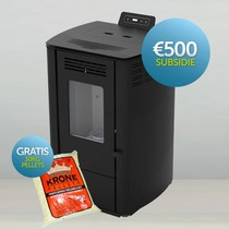 Julia pelletkachel 8 kW zwart (met € 500 subsidie) + 30 kg gratis pellets (meldcode KA03779)