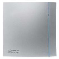Silent Design 100 CZ aan/uit Badkamer/ toilet ventilator - dia 100mm (zilver)