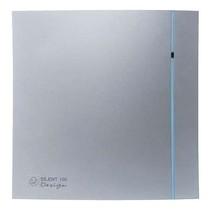 Silent Design 100 CRZ TIMER Badkamer/ toilet ventilator - dia 100mm (zilver)