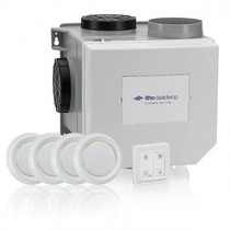 CVE-S eco fan ventilator box alles-in-1 pakket + vochtsensor + RFT auto + 4 ventielen - euro stekker & perilex stekker